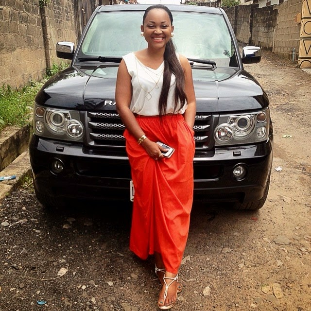 Mercy Aigbe (Range Rover)