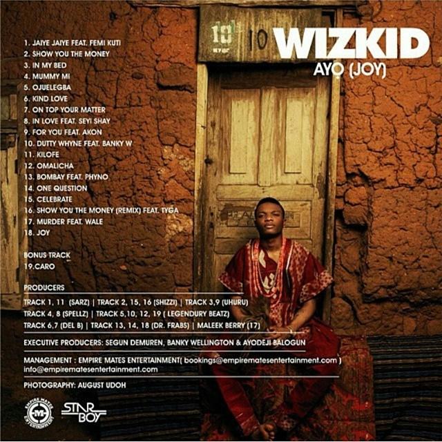 JOY Album by Wizkid