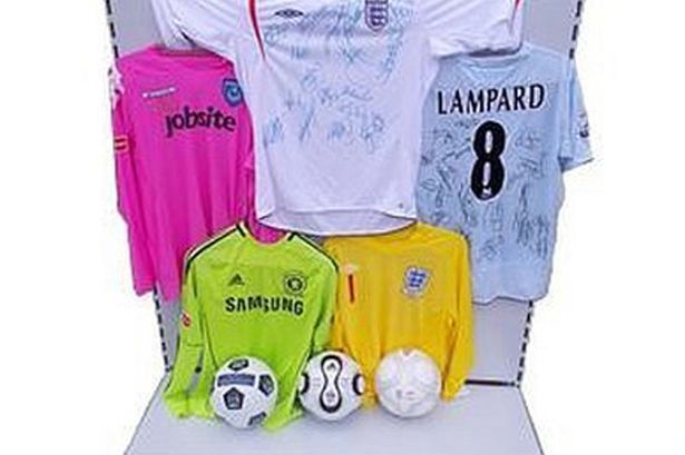 David-James-Auctioned-Football-items