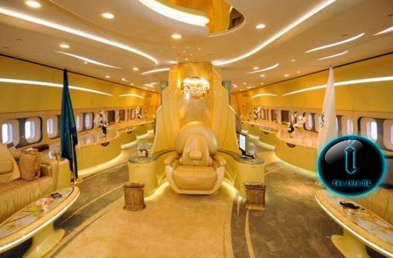 Photos of Saudi prince, Alwaleed bin Talal's private jet made of gold