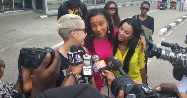 amber rose in lagos theinfong
