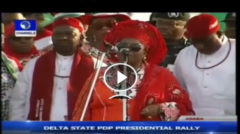 Presidnet Jonathan cries after his wife starts singing - TheInfoNG.com