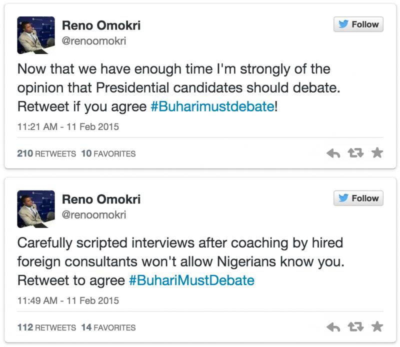 President Jonathan's aide, Reno begs Buhari