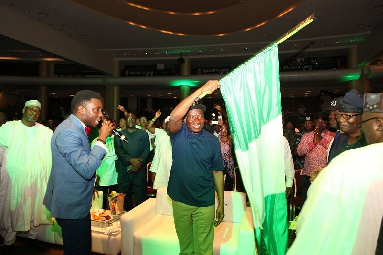 Exclusive photos from GEJ's meet the president event president jonathan theinfong.com