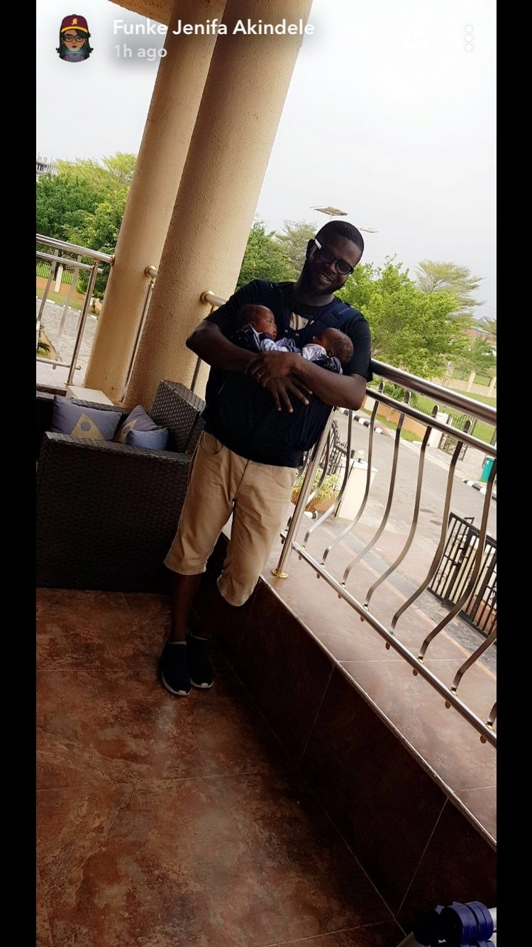 Funke Akindele-Bello unveils the faces of her cute twins (photo)