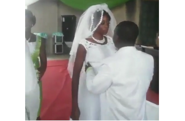 How angry bride embarrassed her husband at the altar