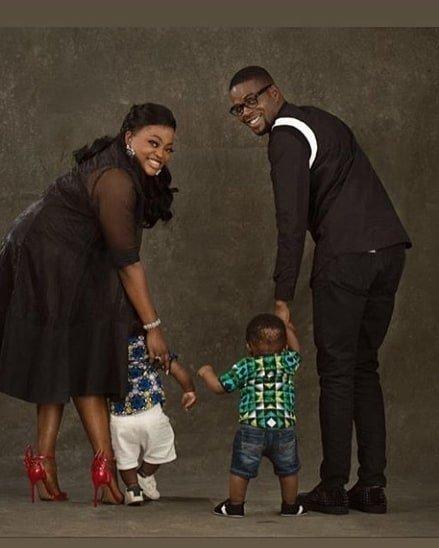 Funke Akindele marks first birthday of her twin boys