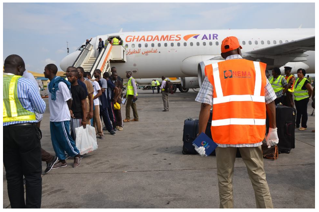Photos of the 162 stranded Nigerian deportees