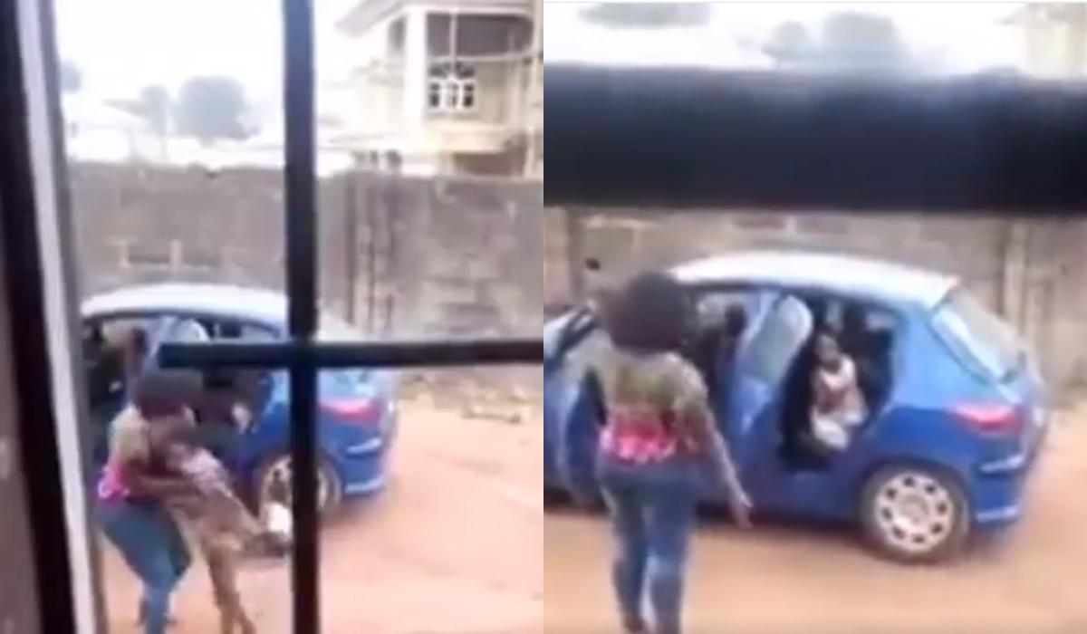 Shocking moment angry woman lifts up her maid, slams to the ground (Video)