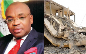 Gov Udom escapes death as Church building collapse