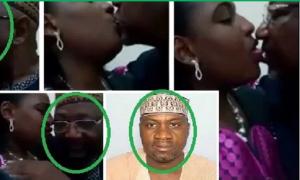 Senator caught on camera kissing and smooching girlfriend