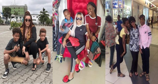 Meet 10 Nollywood Actresses Playing The Role Of Father For Their Children