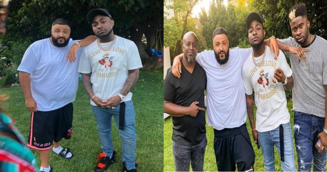 Davido hangs out with DJ Khaled at his mansion in US