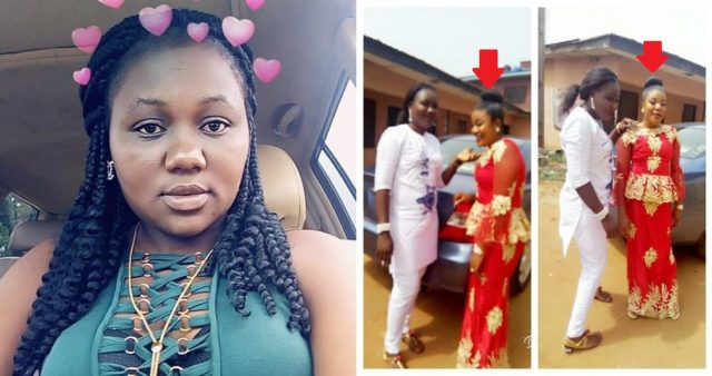 Nigerian lady cries out after her best friend slashed her face with razor blade