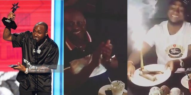 Davido celebrated by his family after winning the Best International act award (VIDEO)