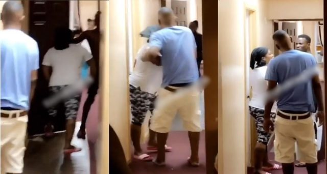 American lady threatens to stab Nigerian housemate over the use of toilet (Video)