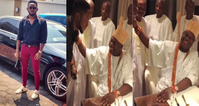 Miracle Pays Ooni of Ife Courtesy Visit (Photos/Video)