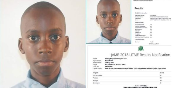 15-year-old boy aces WAEC with straight As and scores 332 in JAMB