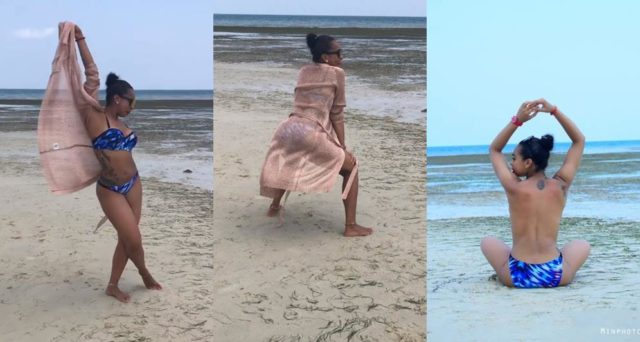 TBoss goes topless as she twerks up a storm at the beach (Photos+Video)