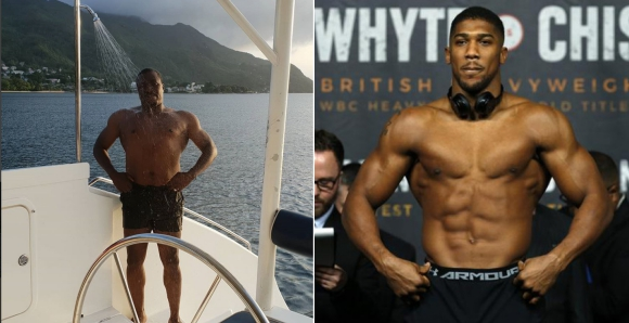 Alibaba Shows Off His Chest, Challenges Anthony Joshua In Two Years Time