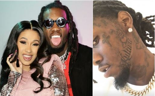 Offset Tattoos Cardi B Name On His Neck To Prove That He: Offset Tattoos Name Of Daughter And Cardi B On His Face