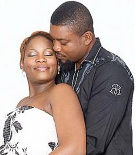 Chidi Mokeme and wife