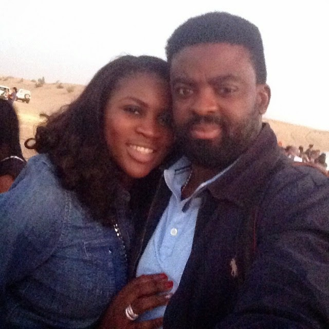 Kunle Afolayan and his wife