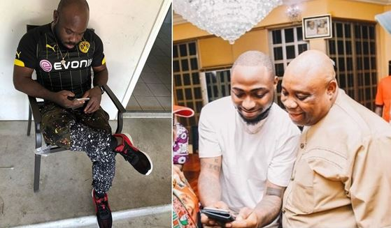 Davido blasts his friend for making jest of his uncle
