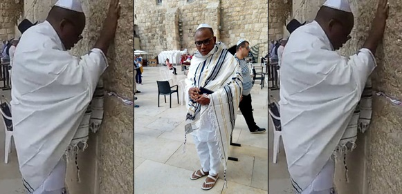 Nnamdi Kanu spotted in Jerusalem