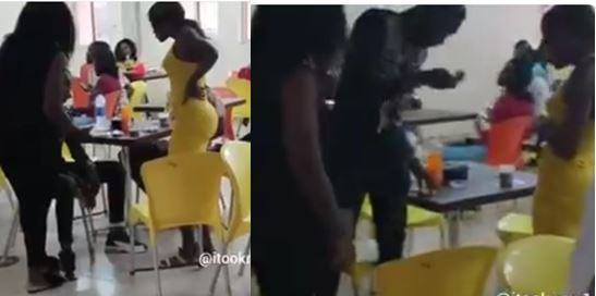 Nigerian lady catches her boyfriend with another lady