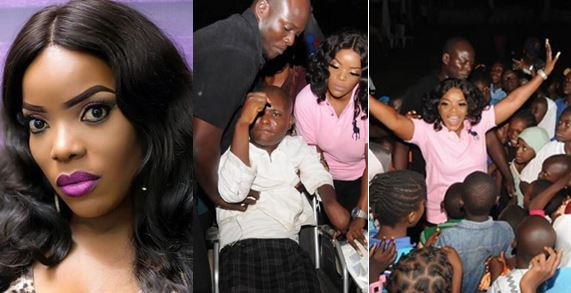 Empress Njamah donates 20 wheel chairs to the less privilege to celebrate her birthday (Photos)