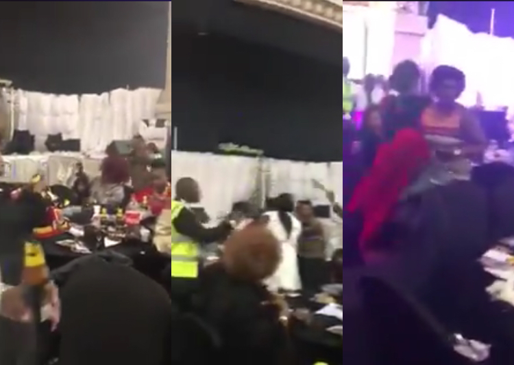 Girlfriend and her 'gang' destroy the wedding of her boyfriend with another lady (Video)