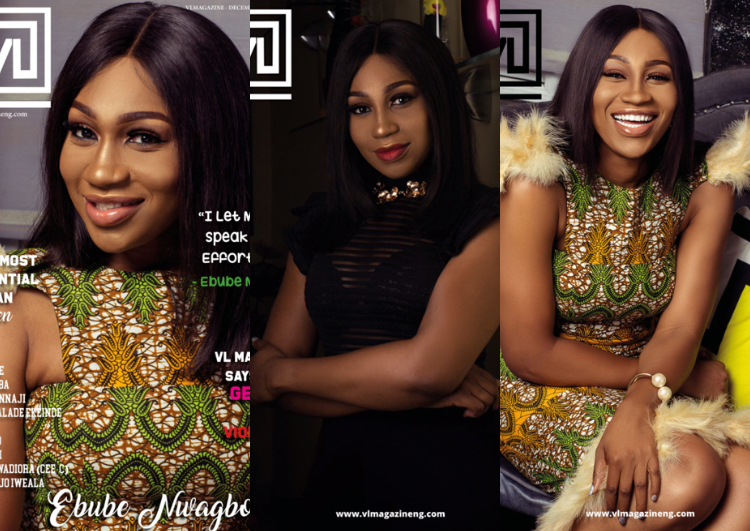 Actress Ebube Nwagbo covers VL magazine's December issue (Photos)