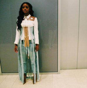 Smash or pass? Wizkid's boo, Justine Skye, rocks corset ensemble