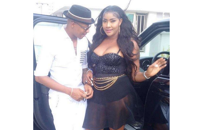 Actor IK Ogbonna caught staring at married actress Angela Okorie's boobs (See Photo)