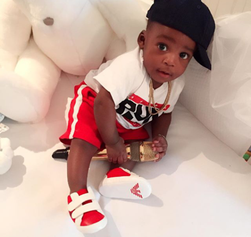Cute photo of Tiwa Savage's son, Jamil surfaces.. theinfong.com