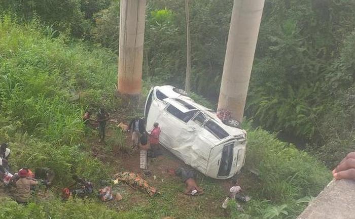 Accident on a bridge before Benin… (Graphic Photos)