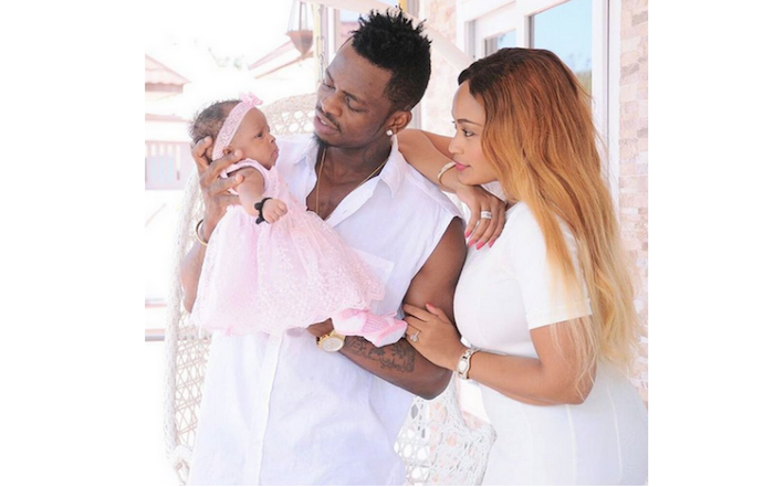 Adorable photo of Diamond Platnumz, his beautiful baby mama & their daughter theinfong.com 700x441