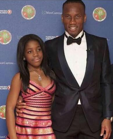 Didier Drogba shares pic of his daughter as she turns a year older.. theinfong.com