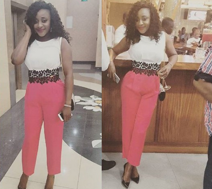 Ini Edo steps out in lovely outfit at media event in Lagos - She looks beautiful! theinfong.com 700x626