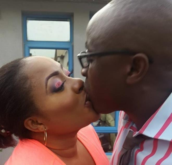 ROMANCE TALE- FOLUKE DARAMOLA, HUBBY CAUGHT IN SHARP CORNER (PHOTO)
