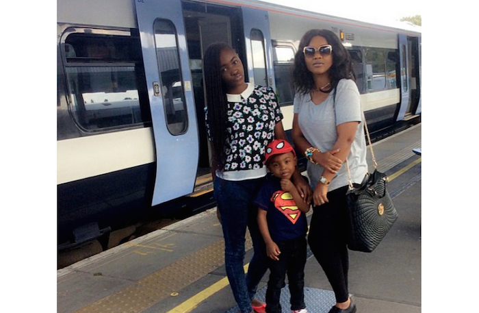 Top Yoruba actresses - Mercy Aigbe and childen theinfong.com 700x457