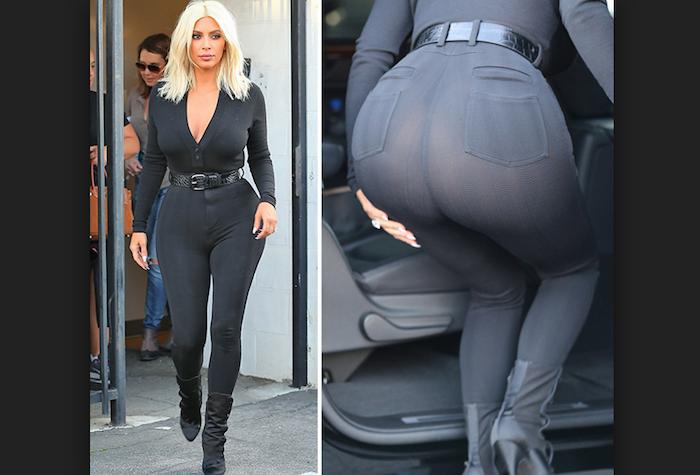 Hot kim booty kardashian Kim Kardashian