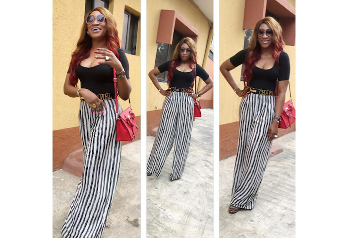 Actress Oge Okoye puts tattoo & boobs on display (See Photos) theinfong.com 700x480