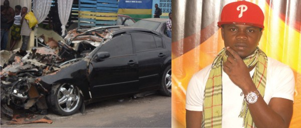 Dagrin car crash, death