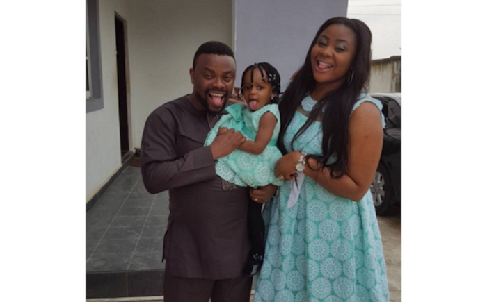 Comic actor, Okon shows off his lovely family in new photos - See his beautiful daughter! theinfong.com 700x435