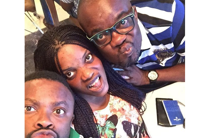 Comedian Okon, Empress Njamah & Charles Inojie show off their pouting skills.. Whose pouting is the best? (See Photo) theinfong.com 700x468