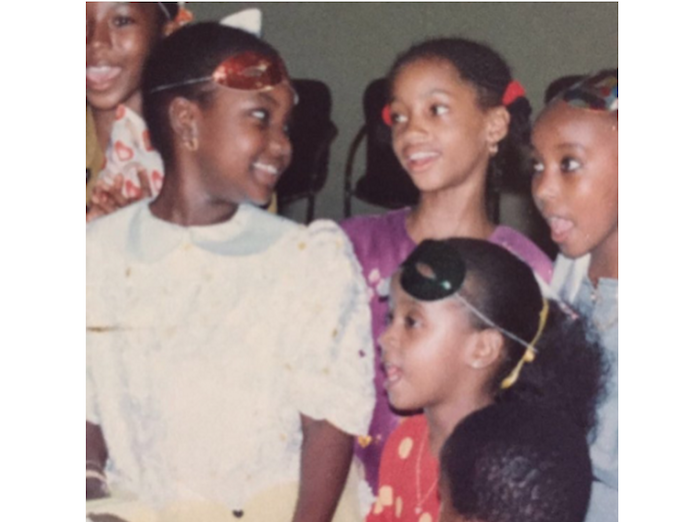 Di'Ja shares throwback photo of herself as a young girl theinfong.com 700x522