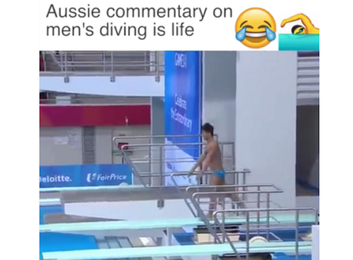 An hilarious Australian man's commentary on men's diving in Olympics theinfong.com 700x516