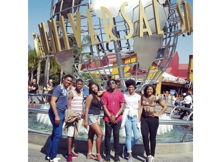 Omotola Jalade, her hubby and children enjoying life in USA theinfong.com 700x519